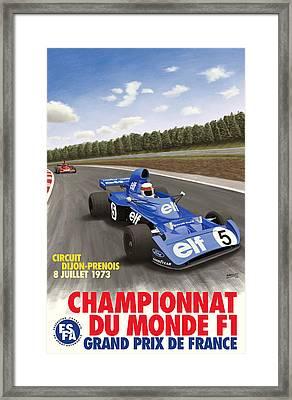 Dijon Prenois French Grand Prix 1973 Framed Print