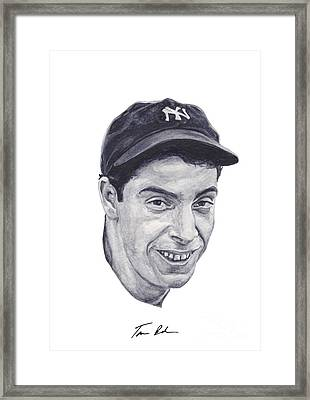 Framed Print featuring the painting Dimaggio by Tamir Barkan