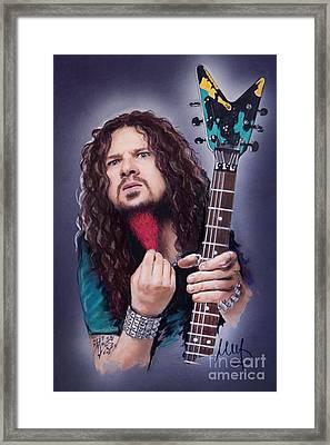 Dimebag Darrell  Framed Print by Melanie D