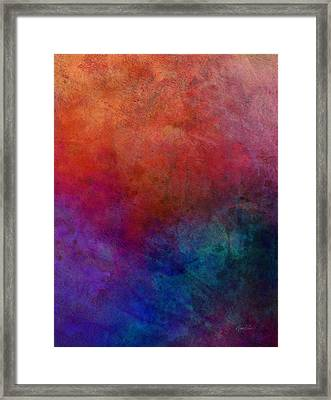 Dimension - Abstract Art Framed Print by Ann Powell