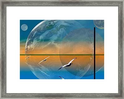 Dimensional Rift Framed Print