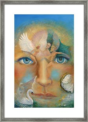 Dimensions Of The Mind Framed Print by Peter Jean Caley