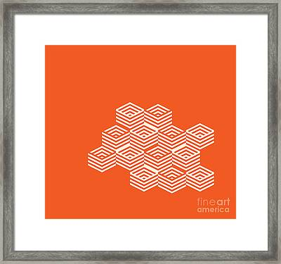 Dimention Through Pattern Framed Print by Igor Kislev