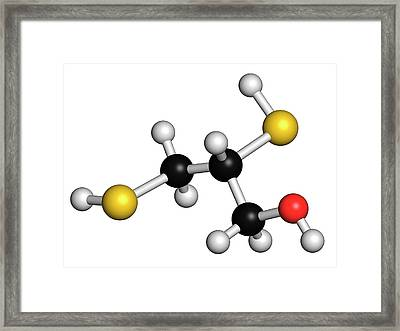 Dimercaprol Metal Poisoning Antidote Framed Print by Molekuul