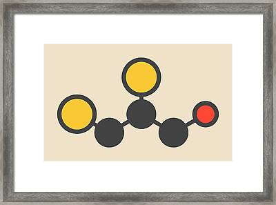 Dimercaprol Metal Poisoning Drug Molecule Framed Print by Molekuul