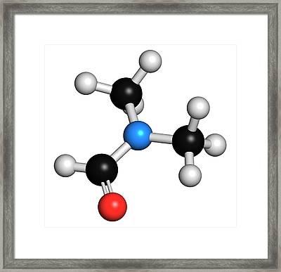 Dimethylformamide Solvent Molecule Framed Print by Molekuul