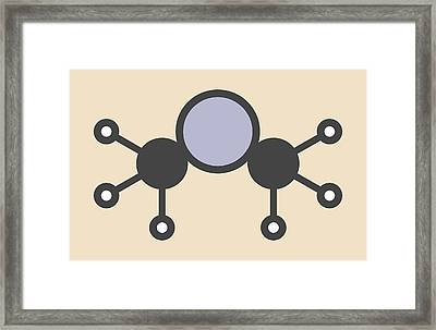 Dimethylmercury Molecule Framed Print by Molekuul