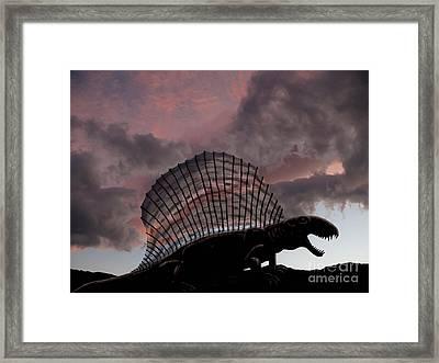 Dimetrodon Limbatus, A Prehistoric Framed Print by Yuriy Priymak