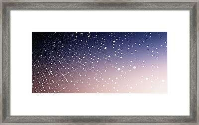Diminishing Dot Pattern Against An Framed Print by Ralf Hiemisch
