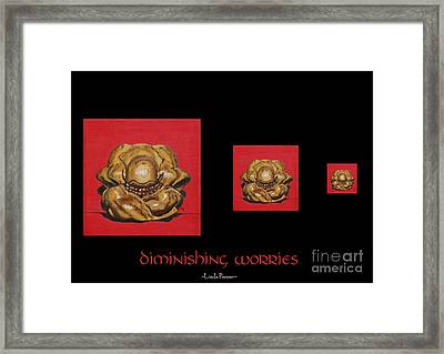 Diminishing Worries Framed Print