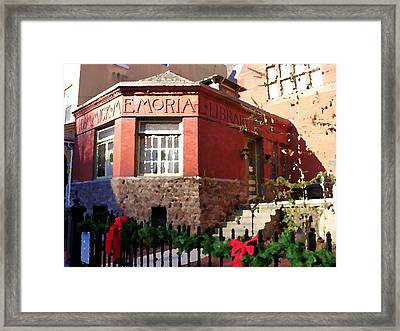 Dimmick Memorial Library In Jim Thorpe Pa - Abstract Framed Print by Jacqueline M Lewis