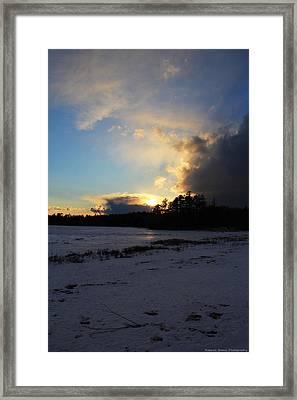 Dimming Framed Print