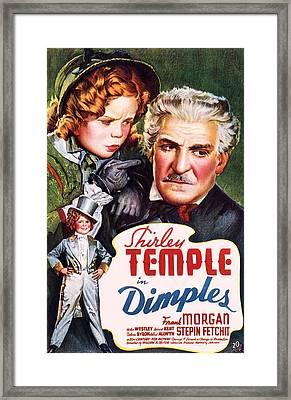 Dimples Framed Print
