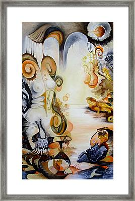 Din Colectia Nymphs - November Nimph Framed Print by Mariana Oros