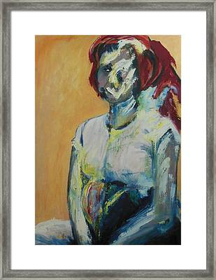 Dinah After The Rape Framed Print by Esther Newman-Cohen