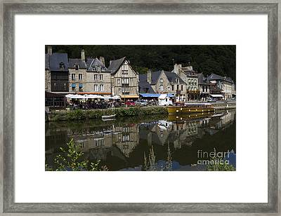Dinan - Old Town By The Riverside Framed Print by Heiko Koehrer-Wagner