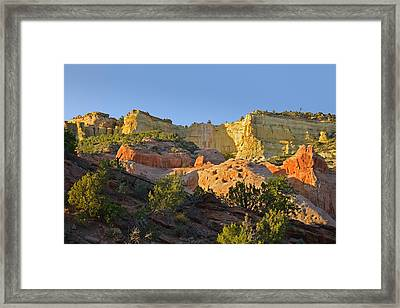 Dine' Tah ' Among The People ' Scenic Road Framed Print