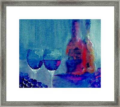 Framed Print featuring the painting Dine With Wine by Lisa Kaiser