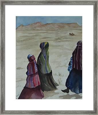 Dineh Leaving The Trading Post Framed Print