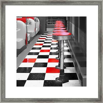 Diner - 1 Framed Print by Nikolyn McDonald