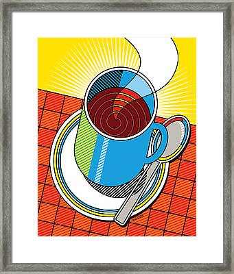Diner Coffee Framed Print by Ron Magnes