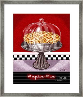 Diner Desserts - Apple Pie Framed Print by Shari Warren