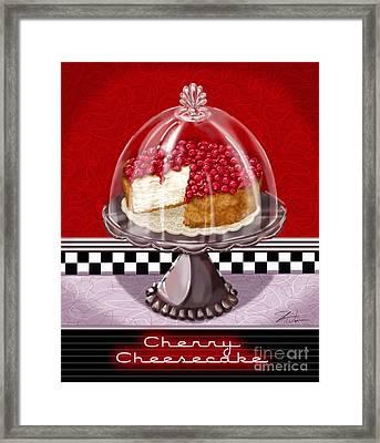Diner Desserts - Cherry Cheesecake Framed Print by Shari Warren