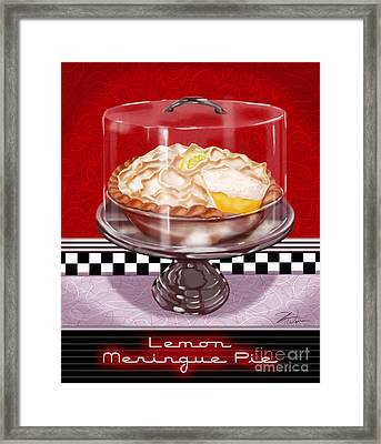 Diner Desserts - Lemon Meringue Pie Framed Print by Shari Warren