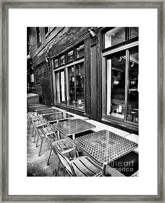 Diner Dining Framed Print by John Rizzuto