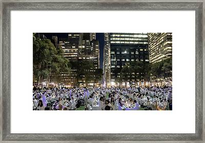 Diner En Blanc New York 2013 Framed Print