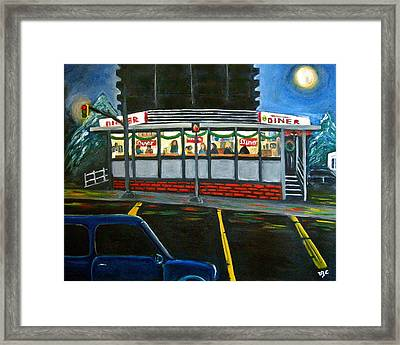 Diner In Arlington Framed Print