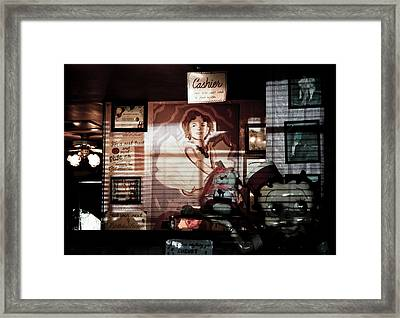 Diner Retro Framed Print by Ellen and Udo Klinkel