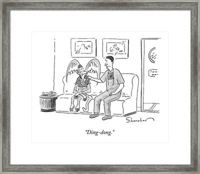 Ding-dong Framed Print by Danny Shanahan
