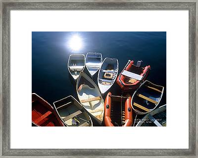 Dinghies And Rowboats - Maine Framed Print by David Perry Lawrence