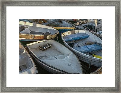Dinghies Framed Print by Peter Tellone