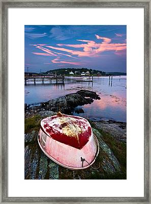 Dinghy Framed Print by Benjamin Williamson