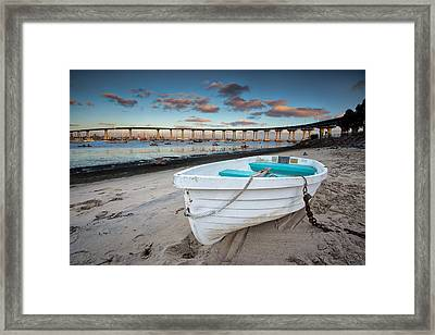 Dinghy II Framed Print by Peter Tellone