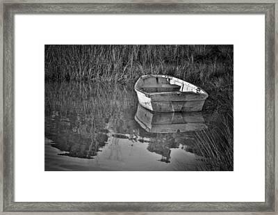 Dinghy In The Marsh Framed Print