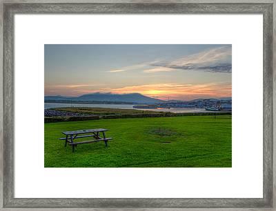 Dingle Harbor Sunset Framed Print