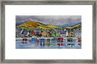 Dingle-harbour-1 Framed Print by Nancy Newman