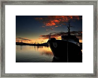 Dingle Harbour Sunset Framed Print