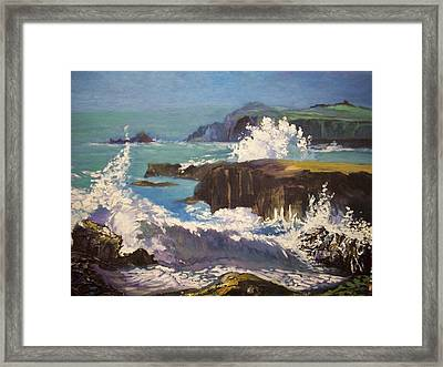 Framed Print featuring the painting Dingle  - Kerry- Ireland by Paul Weerasekera