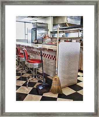 Dingy Diner Framed Print by Trever Miller