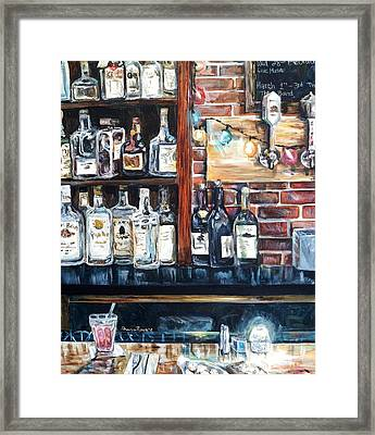 Dining At The Bar Framed Print by Shana Rowe Jackson