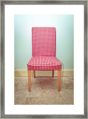 Dining Chair Framed Print by Tom Gowanlock