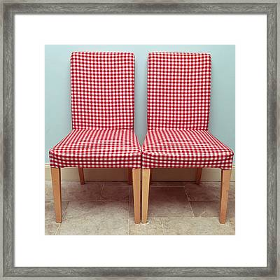 Dining Chairs Framed Print by Tom Gowanlock