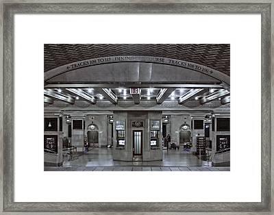 Dining Concourse Gct Framed Print by Susan Candelario