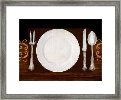 Dining Etiquette Framed Print by Lourry Legarde