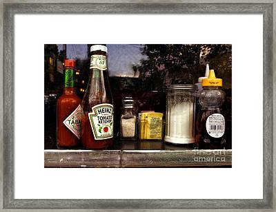 Dining - From The Outside Looking In Framed Print by Kathleen K Parker