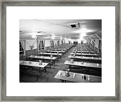 Dining Hall Interior Framed Print by Underwood Archives